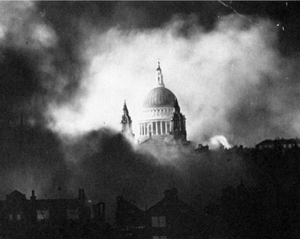 St Paul's during London Blitz, December 29, 1940