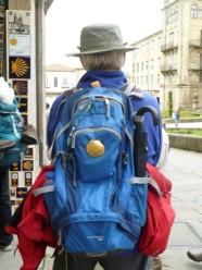 Pilgrim in Santiago